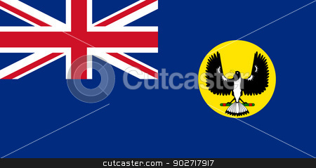 Southern Australia state flag stock photo, Flag of the state of Southern Australia. by Martin Crowdy