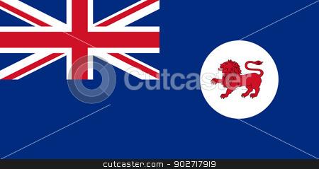 Tasmania state flag stock photo, Flag of the Australian state of Tasmania. by Martin Crowdy