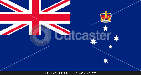 Victoria state flag stock photo, Flag of the Australian state of Victoria. by Martin Crowdy
