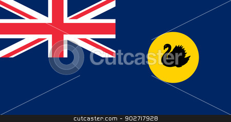 Western Australia state flag stock photo, Flag of the state of Western Australia. by Martin Crowdy