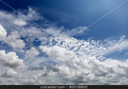 Cloudy Blue Sky stock photo, Cloudy blue sky by Vinod Pillai
