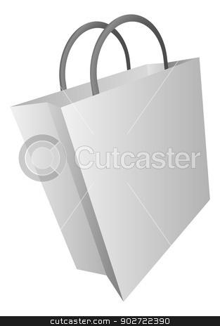 Shopping bag icon illustration stock vector clipart, An illustration shopping bag icon clip art by Christos Georghiou