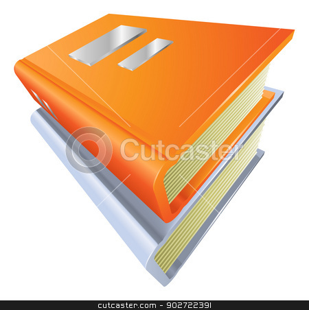 Books stacked closed illustration icon clipart stock vector clipart, Illustration of two stacked closed books illustration icon clipart by Christos Georghiou
