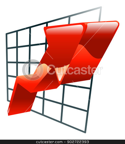 Illustration of graph icon clipart stock vector clipart, Illustration of graph icon clipart by Christos Georghiou