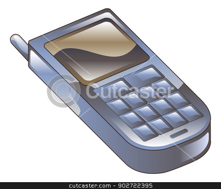 Illustration of mobile phone icon clipart stock vector clipart, Illustration of mobile phone icon clipart by Christos Georghiou