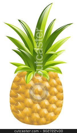 Illustration of a pineapple icon illustration stock vector clipart, Illustration of a pineapple icon illustration by Christos Georghiou