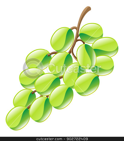 Illustration of grapes fruit icon clipart stock vector clipart, Illustration of grapes fruit icon clipart by Christos Georghiou