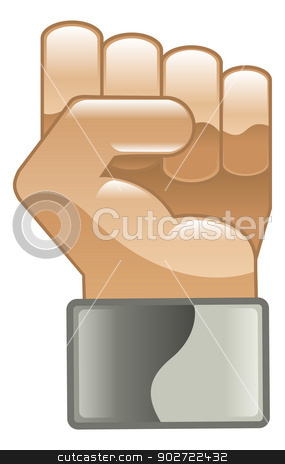 Fist hand power clipart illustration icon stock vector clipart, Fist hand power clipart illustration icon by Christos Georghiou