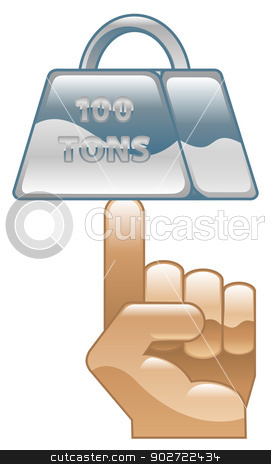 Strength concept icon clipart illustration stock vector clipart, Strength concept icon clipart illustration by Christos Georghiou