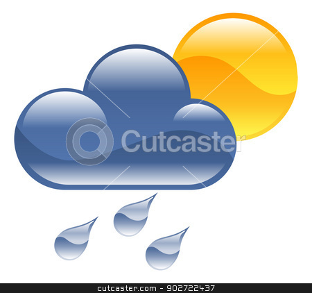 Weather icon clipart illustration stock vector clipart, Weather icon clipart illustration by Christos Georghiou