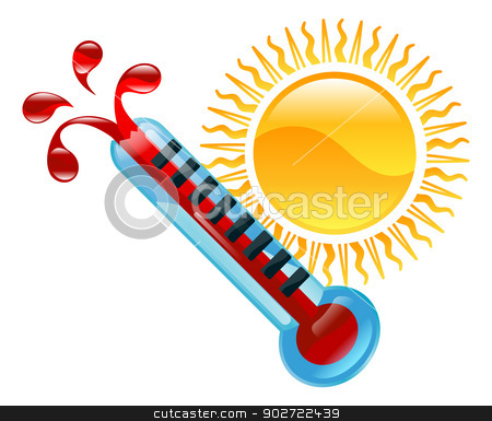 Weather icon clipart illustration stock vector clipart, Weather icon clipart boiling hot thermometer illustration by Christos Georghiou