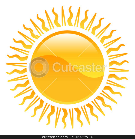 Weather icon clipart sun illustration stock vector clipart, Weather icon clipart sun illustration by Christos Georghiou