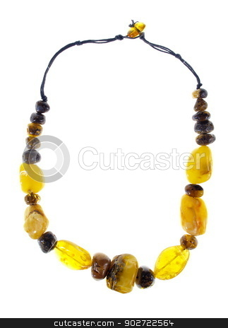 Amber Necklace stock photo, Studio isolated photo of the Amber Necklace by Karol Kozlowski