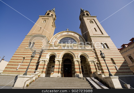 Carhedral in Transylvania stock photo, Holy Trinity Romanian Orthodox Cathedral in Sibiu, Romania by Ioan Panaite