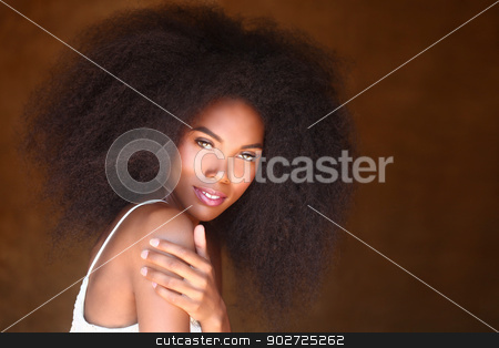 Black woman with big click