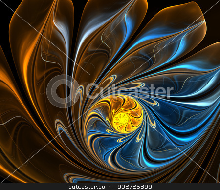 Computer generated fractal artwork  stock photo, Computer generated fractal artwork for multipurpose use in design by Maria Repkova