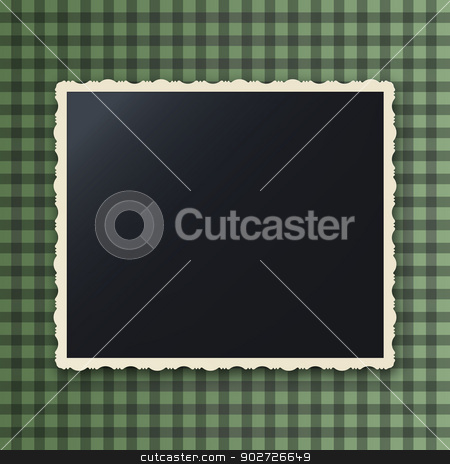Instant photo  stock vector clipart, Instant photo frame with copy space, gaussian blur effect by Richard Laschon