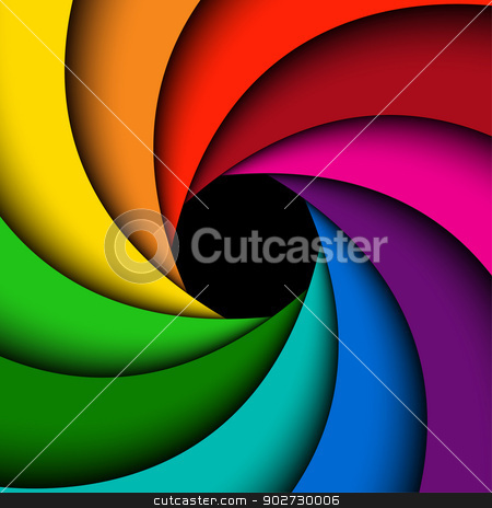 Colorful rainbow swirl stock vector clipart, Colorful rainbow swirl, Abstract color background by kurkalukas