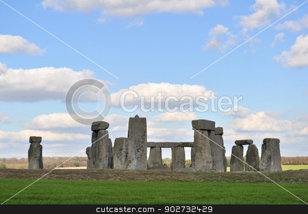 Stonehenge stock photo, Stonehenge near Amesbury England by Stephen Inglis