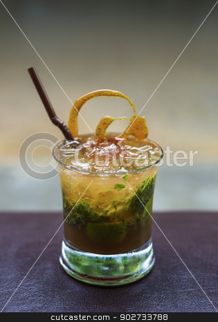 mojito alcoholic cocktail drink  stock photo, mojito rum alcoholic cocktail drink by travelphotography