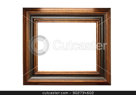 dark painting frame isolated on white stock photo, empty dark painting wooden frame isolated over white background by coroiu octavian