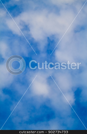blue sky with clouds stock photo, blue sky with clouds by budastock