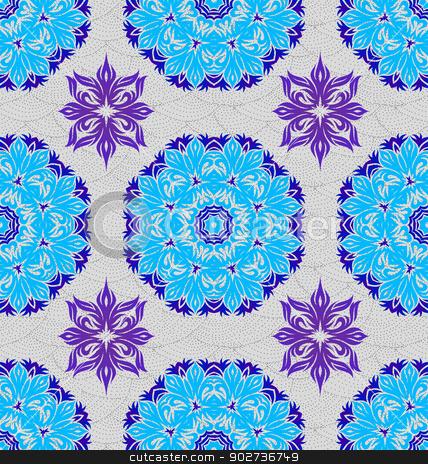 Seamless ornament pattern tile stock vector clipart, Seamless ornament pattern tile for design needs by Maria Repkova