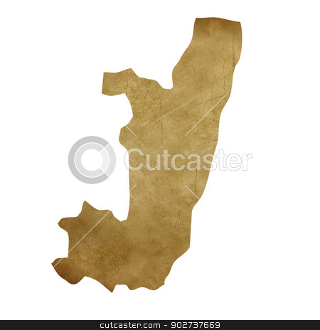 Congo grunge treasure map stock photo, Congo grunge map in treasure style isolated on white background. by Martin Crowdy