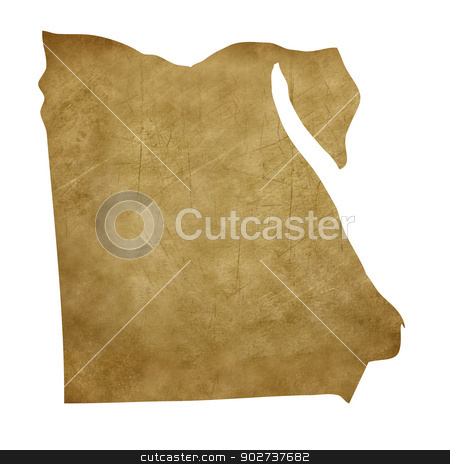 Egypt grunge treasure map stock photo, Egypt grunge map in treasure style isolated on white background. by Martin Crowdy