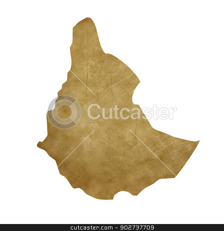 Ethiopia grunge treasure map stock photo, Ethiopia grunge map in treasure style isolated on white background. by Martin Crowdy