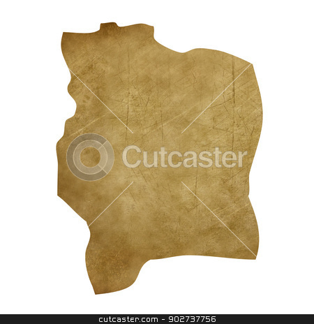 Ivory Coast grunge treasure map stock photo, Ivory Coast grunge map in treasure style isolated on white background. by Martin Crowdy