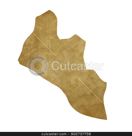 Liberia grunge treasure map stock photo, Liberia grunge map in treasure style isolated on white background. by Martin Crowdy