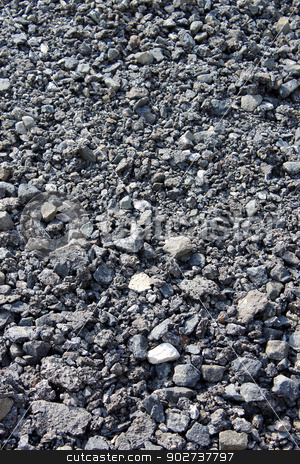 Textured pile of coal stock photo, Abstract background of pile of coal. by Martin Crowdy
