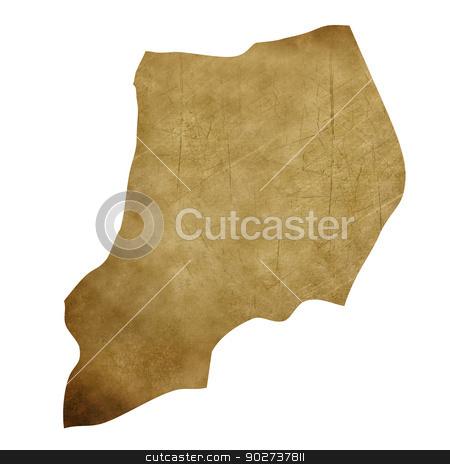 Uganda grunge treasure map stock photo, Uganda grunge map in treasure style isolated on white background. by Martin Crowdy