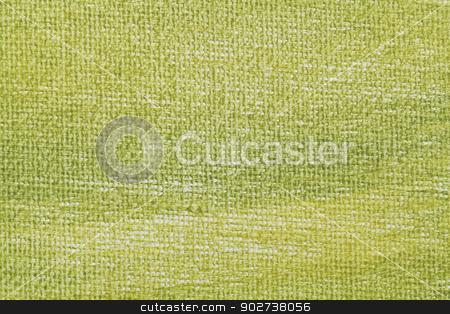 green artist canvas stock photo, macro background texture of artist canvas painted green by Marek Uliasz