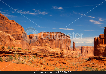 Beautiful rock formations in Arches National Park, Utah, USA stock photo, Scenes from famous Arches National Park, Moab,Utah,USA by CaptureLight