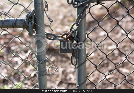 padlocked gate stock photo, locked up gate by ssrokow