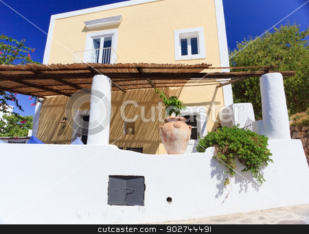 Architecture in Panarea stock photo, Architecture on Panarea island decorated according to mediterranean style by Natalia Macheda