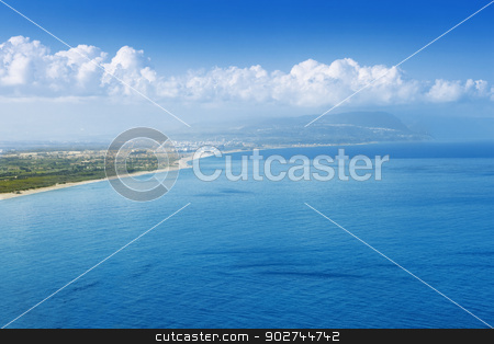 Capo Vaticano, view from the North stock photo, Blue landscape, view on Capo Vaticano in Calabria by Natalia Macheda