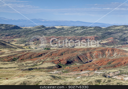 Red Mountain in Colorado stock photo, rugged terrain with cliffs and cnyon in Red Mountain Open Space in northern Colorado near Fort Collins by Marek Uliasz