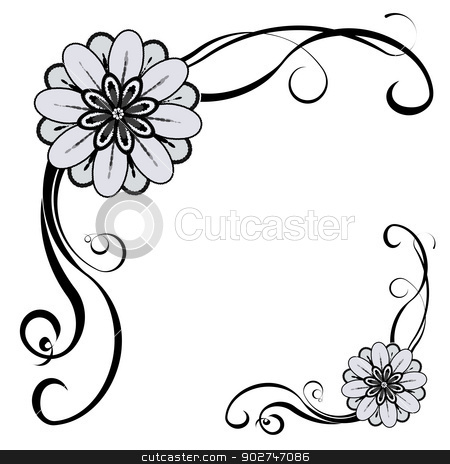 Decorative Border stock vector clipart, Floral decorative border, with ...