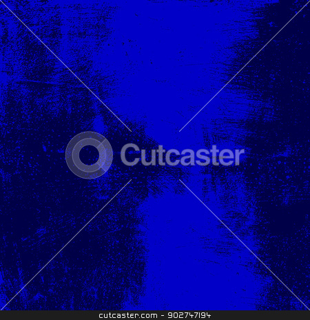 Blue Grunge Background stock vector clipart, Blue grunge brushed texture. EPS10 vector background. by benjaminlion