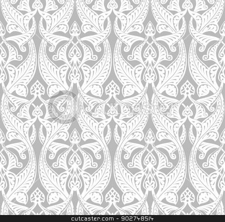 Vintage Art Nouveau Background stock vector clipart, Vintage detailed seamlessly tilable repeating Art Nouveau motif background pattern by Christos Georghiou