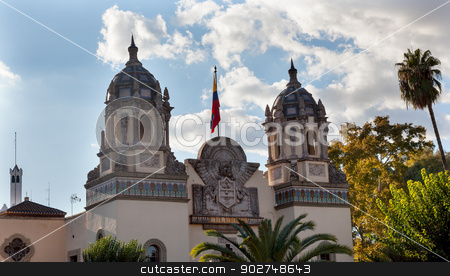 Colombia Consulate/Pavilion Iberio-American Exhibition Seville S stock photo, Colombia Consulate/Pavilion Iberio-American Exhibition of 1929 Seville Andalusia Spain Cityscape, City View by William Perry