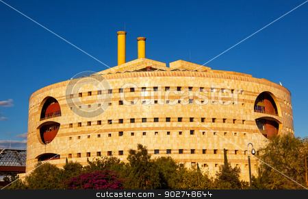 Torre Triana Modern Round Government Building Seville Andalusia  stock photo, Torre Triana Modern Round Building Seville Andalusia Spain.  Houses the Seville Government. by William Perry