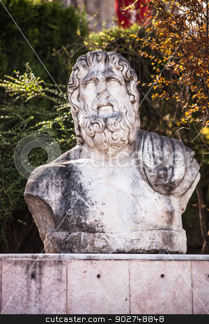 Ancient Stone bust stock photo, Stone bust in Ankara by Scott Griessel