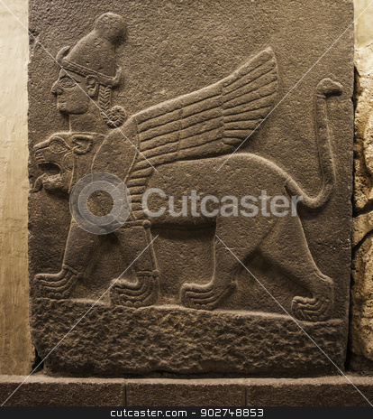 Hittite Chimera stock photo, Chimera Relief by Scott Griessel