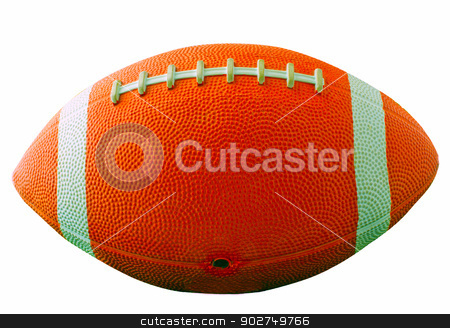 Football Usa Isolated stock photo, A football for american football isolated over white by Fabio Alcini