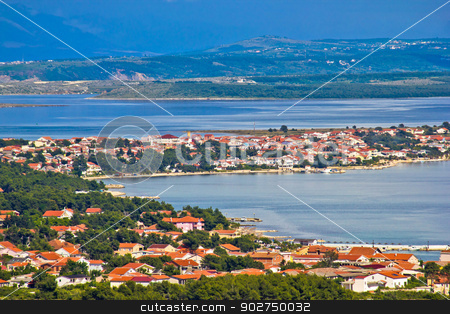 Island of Vir archipelago aerial view stock photo, Island of Vir archipelago aerial view, Dalmatia, Croatia by xbrchx
