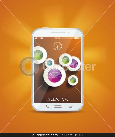 Touchscreen smartphone  stock vector clipart, Touchscreen smartphone  by Elena